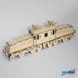 Krokodil Lokomotive Laser Holzbausatz Standmodell_194