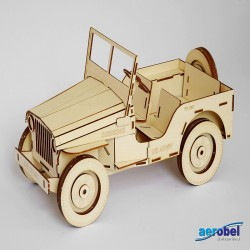 Willys MB Jeep Laser Holzbausatz Standmodell_240