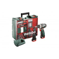 600080880 Metabo PowerMaxxBSBasicSet Akku Bohrschrauber 2 x 2.0 Ah Akku_50932